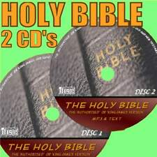 COMPLETE KING JAMES HOLY BIBLE MP3 AUDIO BOOK & TEXT 2 X PC-CD LISTEN & READ NEW