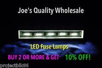 (8)WHITE 8V LED FUSE LAMPS /SX-737 1010 838 6000 SX828 636 535 939 424/Pioneer