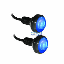 Eagle Eyes High Power Blue LED DRL Projector Bolt On Screw Reverse Tail Lights