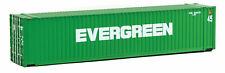 Walthers HO Scale 45' CIMC Shipping Container Evergreen (Green/White)