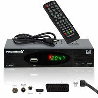Kabelreceiver Digital Kabel TV Receiver DVB-C HDTV FullHD USB SCART HDMI-Kabel