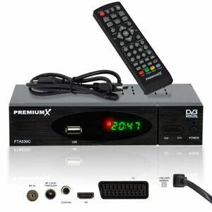 Kabelreceiver Digital Kabel TV Receiver DVB-C FullHD USB SCART HDMI-Kabel