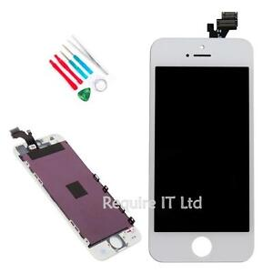 NEW WHITE SILVER IPHONE 5 TOUCH SCREEN DISPLAY AND DIGITISER ASSEMBLY WITH TOOLS