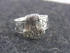 ARGENTO 925 anello VICHINGO Martello di Thor