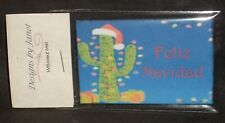 Welcome Mat - Feliz Navidad Cactus Christmas 1:12 Carpet Rug House Door Mini