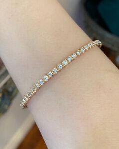 4.60 ct Diamond Eternity Stackable Bangle Bracelet in 18k Rose Gold - HM1378ZA