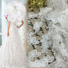 1M Vintage Butterfly Lace White Edge Trim Ribbon Applique Sewing Wedding Crafts