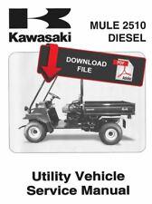 Kawasaki 2002 Mule 2510 Diesel Service Manual