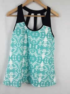 Fabletics  active Strappy Tank Top with built bra Size- XL Color-Green/ Black