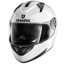 SHARK RIDILL BLANK GLOSS WHITE FULL FACE MOTORCYCLE HELMET MEDIUM HE0502E/WHU