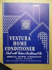 1935 Ventura Home Conditioner Air Condition Catalog American Blower Corp Vintage
