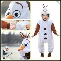 Frozen Olaf Snowman Kids Kigurumi Onesies Pajamas Costume gift