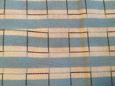 Vintage 30s 40s Cotton Plisse Blue Stripe Novelty Shirt Quilt Fabric~3Pc 22x10in