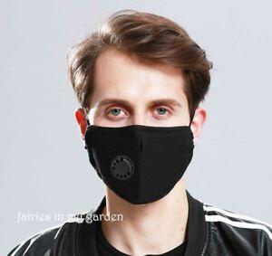 Face Mask ReUsable Unisex PM 2.5 Black ships 24 hrs usa Allergy Mask w/filter