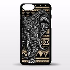 Elephant retro aztec african pattern illustration animal art phone case cover