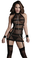 Women Sexy/Sissy Black Bandages Handcuffs Erotic Lingerie (INT)