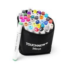 TOUCHNEW 36 Color Alcohol Art Dual Tip Sketch Pen Art Sketch Twin Tip Marker Pen
