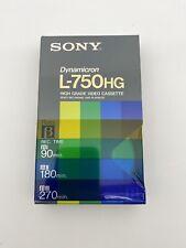 Sony L-750HG Dynamicron High Grade Beta Cassette - Brand new sealed