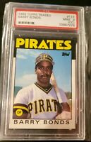 1986 Topps Traded Barry Bonds ROOKIE RC #11T PSA 9 (OC) MINT Rare