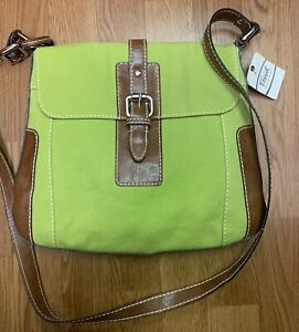 New Fossil Purse Green And Brown