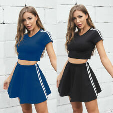 New listing European Casual Summer Female and Solid American  Top Wear Sports Outdoor Skirt