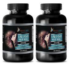 Maca man - Male enhancement formula - UNLEASH YOUR WOLF - 2 Bottles 120 Capsules