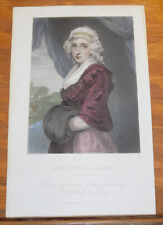 1867 Antique COLOR Print///MRS. WILLIAM S. SMITH (Abigail Adams)