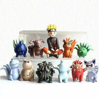 10pcs Naruto Shippuden Uzumaki Bijuu Tail Beast Baby Anime Figures Figurine AAA