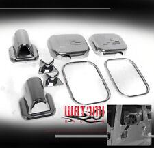 03 04 05 HUMMER H2 SUV SUT SIDE DOOR MIRROR COVERS TRIM MOULDING CHROME 8PCS SET