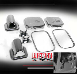 03 04 05 HUMMER H2 SUV SUT SIDE DOOR MIRROR COVERS TRIM MOULDING CHROME 8PCS SET