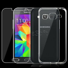 Tempered Glass Screen Protector Clear TPU Case for Samsung Galaxy Prevail LTE