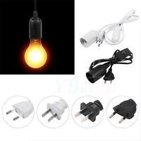 E27 172cm Cable Cord Plug Pendant Lamp Light Bulb Holder Socket Base W/ Switch H