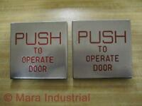Part PUSH TO OPERATE DOOR Push To Operate Door Button Pack Of 2