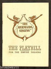 "Lois Wilson ""MERMAIDS SINGING"" Walter Abel / Beatrice Pearson 1945 FLOP Playbill"