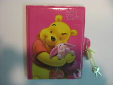 Disney Winnie The Pooh With Pooh & Piglet Diary Notebook With Lock Note Memo Pad