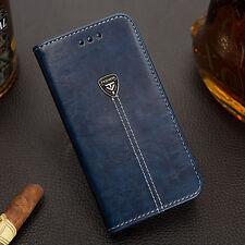 De Lujo Funda Libro Cartera Base Cuero for iPhone 6 7Plus Samsung Galaxy