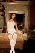 White Stripe Camisette Set, Elegant Moments, (Size 8-12), Lingerie, Bodysuit