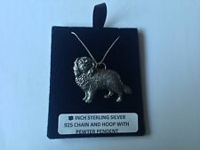 D7 Cav. King Charles on a 925 sterling silver Necklace Handmade 18 inch chain