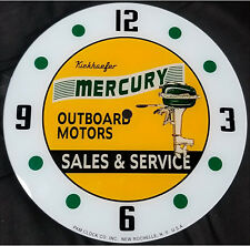 """15/"""" SQ CHRIS CRAFT BOATS AUTHORIZED DEALER SALES MARINE GLASS FACE PAM CLOCK"""
