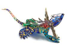 TINY CRYSTAL chameleon HAND BLOWN CLEAR GLASS ART chameleon FIGURINE ANIMAL