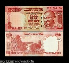 INDIA 20 RUPEES 2013 or 2015 GANDHI NEW SYMBOL TREE UNC CURRENCY MONEY BANK NOTE