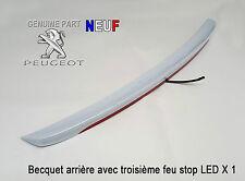 Peugeot 308CC Becquet arrière avec troisième feu stop LED Pièce d'origine Neuf