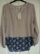 BODEN MAYA TOP in PINK FROSTING DOTTY FLORAL. UK 12, EUR 38-40, US 8 W0008 BNWT