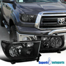 fit 07-13 Toyota Tundra/ 08-14 Sequoia Replacement Headlights LH+RH Black
