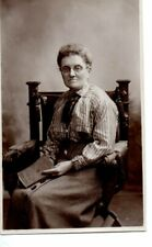 VINTAGE PHOTOGRAPH:   LADY SEATED IN A CARVED CHAIR Shaftesbury & Fpvant studio