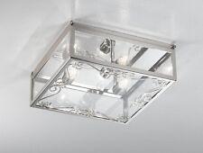 Plafoniera contemporanea cromata e vetro coll. BELL vittoria 1390/PL30Q