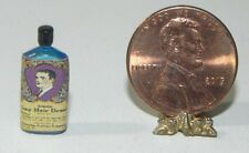 Dollhouse Miniature Hair Lay Down Bottle Vintage Label Hudson River  1:12 Scale