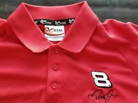 Red Dale Earnhardt Jr #8 Budweiser Nascar Size XL Polo Shirt, Chase Authentics