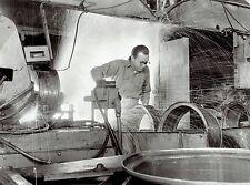 1958 Vintage Photo Firestone Steel Products worker welding Challenger Truck Rim