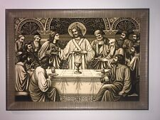 Handmade Persian Pictorial (like picture and painting) the last supper Jesus Rug